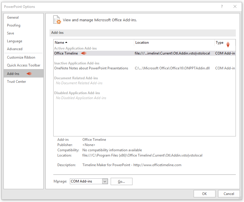 How to disable the Office Timeline add-in – Office Timeline