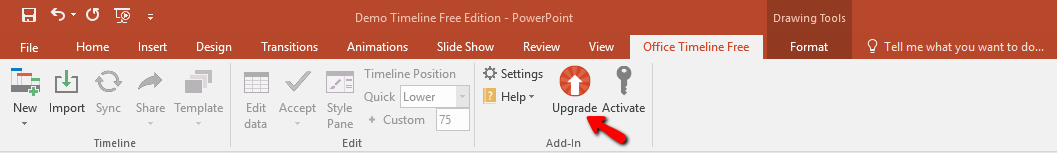 How to activate Plus Edition – Office Timeline Add-in