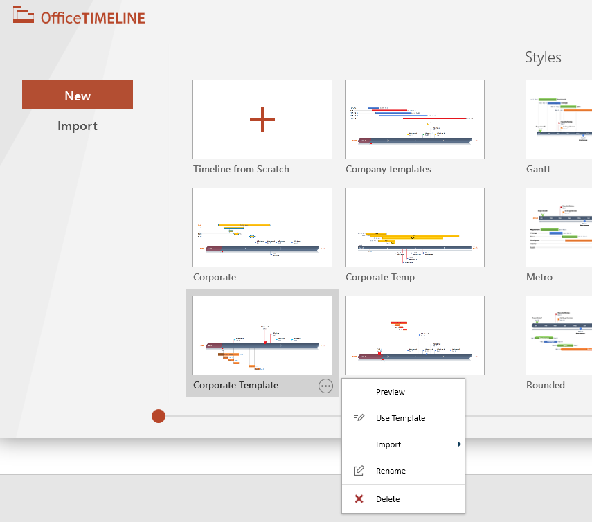 How To Create Save And Share Custom Templates Office Timeline Add