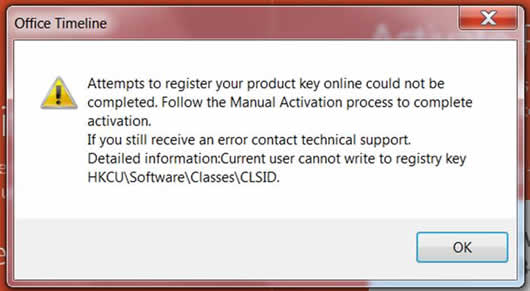 Cannot write to registry key HKCU\Software\Classes\CLSID – Office